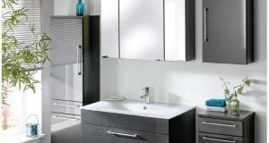 Badezimmer-Set-6-teilig-Anthrazit